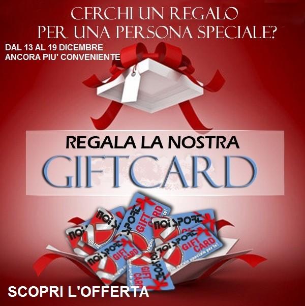 Fai il regalo giusto! Noi Sport Gift Card